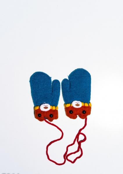 Детские перчатки и варежки ISSA PLUS 7864  12 месяцев бирюзовый