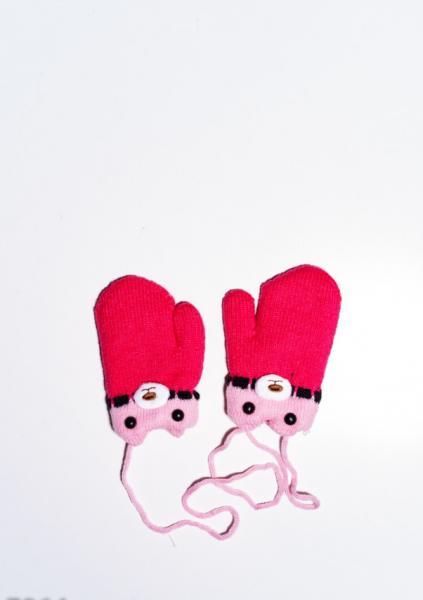 Детские перчатки и варежки ISSA PLUS 7864  12 месяцев коралловый