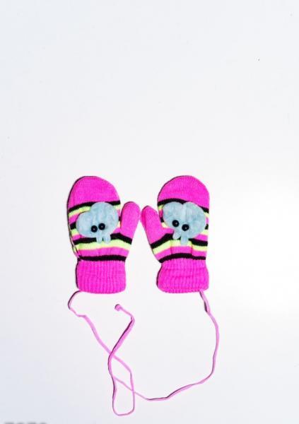 Детские перчатки и варежки ISSA PLUS 7870  12 месяцев розовый