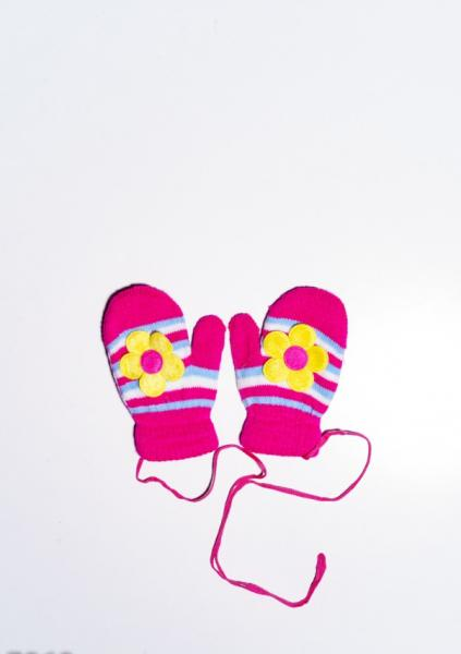 Детские перчатки и варежки ISSA PLUS 7868  12 месяцев малиновый
