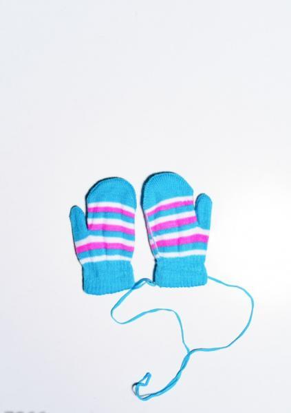 Фото  Детские перчатки и варежки ISSA PLUS 7866  12 месяцев голубой