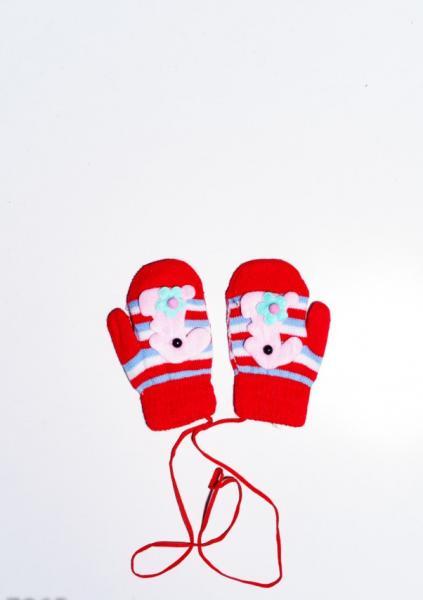 Детские перчатки и варежки ISSA PLUS 7865  12 месяцев красный
