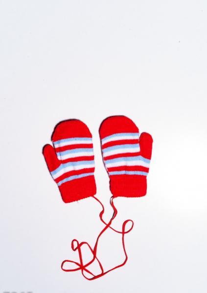 Фото  Детские перчатки и варежки ISSA PLUS 7865  12 месяцев красный
