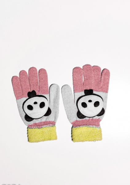 Детские перчатки и варежки ISSA PLUS 7874  Universal желтый/персиковый