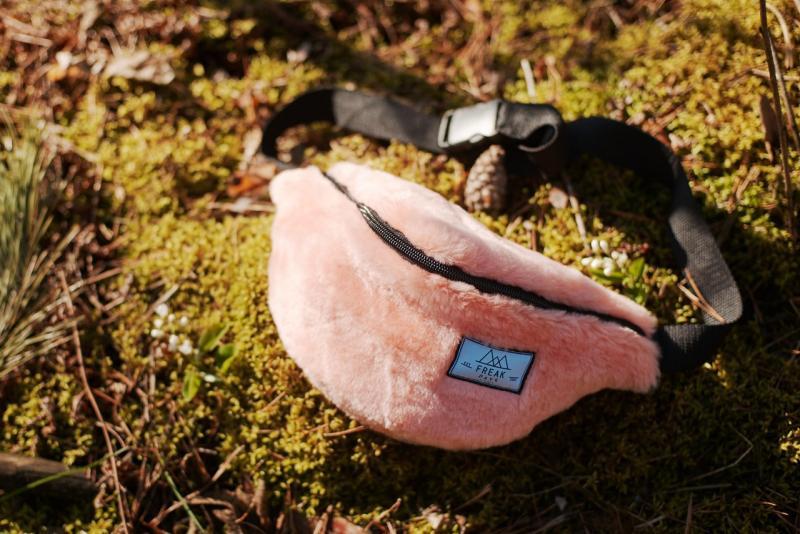 Поясна сумка бананка Freak daysMoss Pink