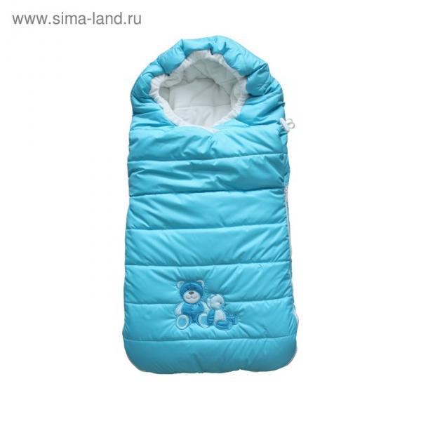 Конверт «Плюшевые мишки», размер 46х95 см, цвет голубой