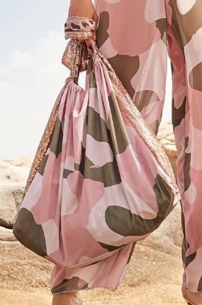Большая пляжная сумка милитари Amarea 19075 One Size Розовый