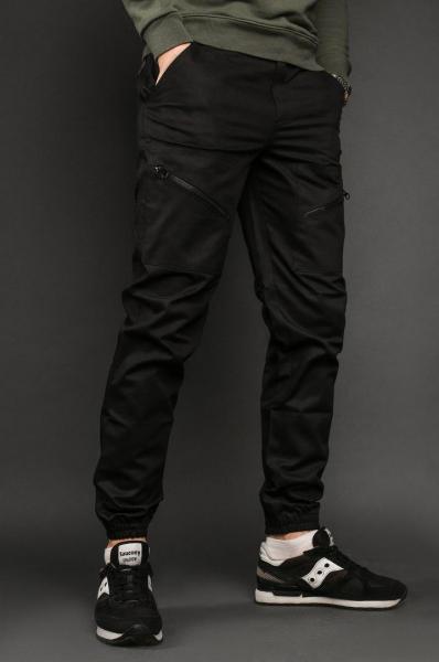 Мужские брюки карго черные ТУР  Apache XXL, Украина, Хлопок