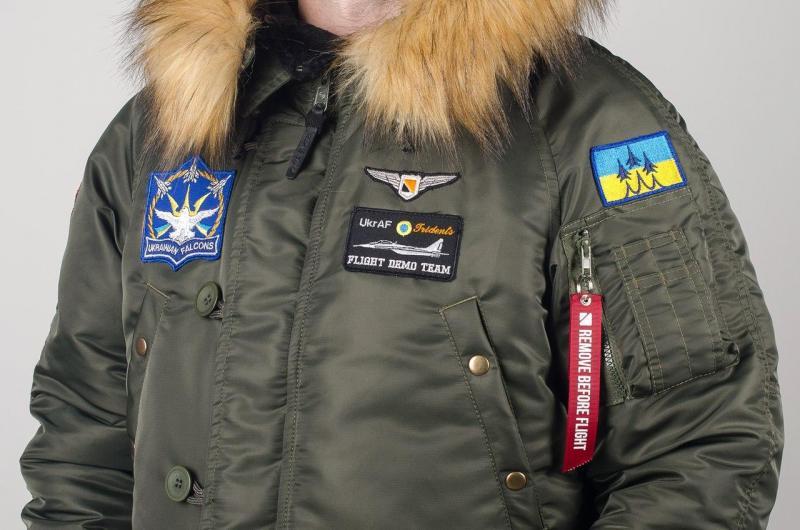 Эксклюзивная зимняя парка Olymp - Аляска N-3B, Аляска мужская зимняя с нашивками, (100%Нейлон), куртка аляска