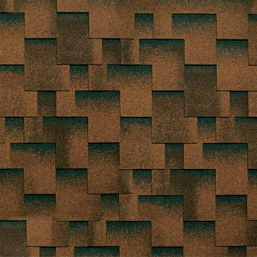 Черепица гибкая Shinglas Кадриль Аккорд коричневый уп. 3 м2