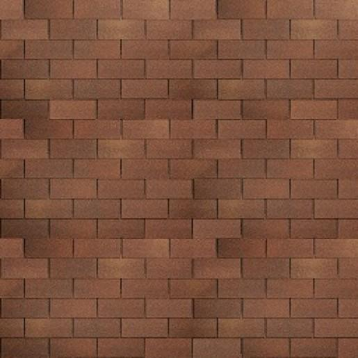 Черепица гибкая Shinglas Фламенко трио коричневый уп. 3 м2