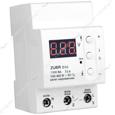 Реле напряжения Барьер ZUBR D32 реле 32А 7кВа для DIN-рейки