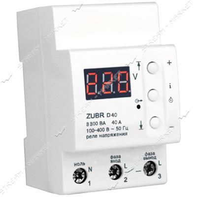 Реле напряжения Барьер ZUBR 40А 8.8кВа на DIN-рейку