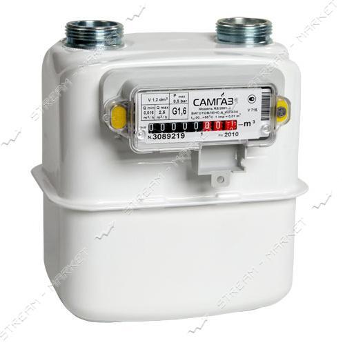 Газовый счетчик САМГАЗ мембранный G1.6 RS/2001-2 d20