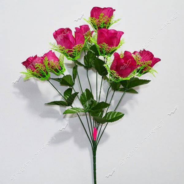 Букет искусственный Роза бутон в розетке 9 голов высота 580мм