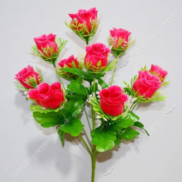 Букет искусственный Роза в розетке 10 голов высота 430мм