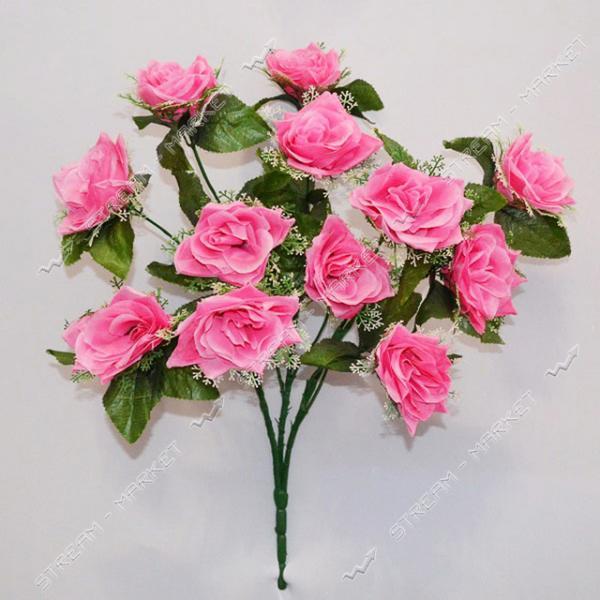 Букет искусственный Роза в розетке 12 голов высота букета 630мм