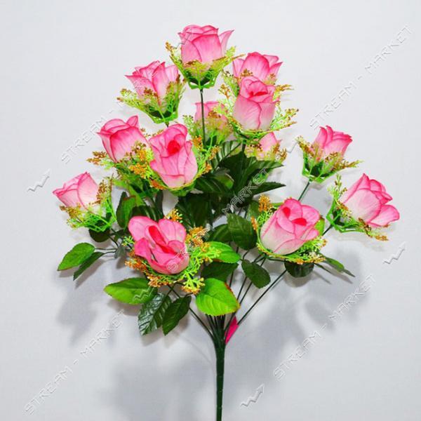 Букет искусственный Роза с золотом 14 голов высота 570мм