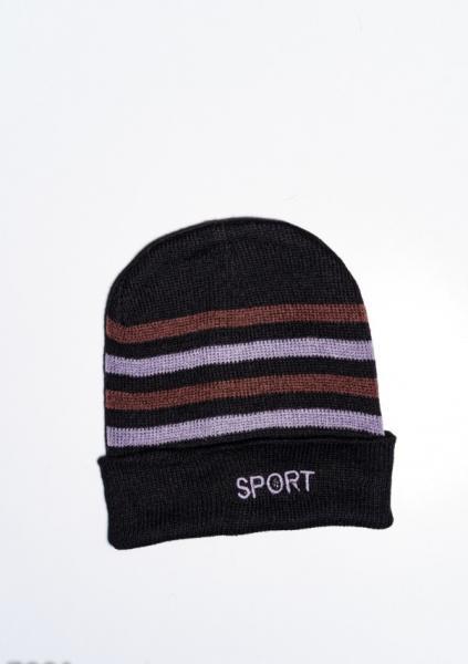 Фото  Мужские шапки ISSA PLUS 7901  Universal черный/коричневый