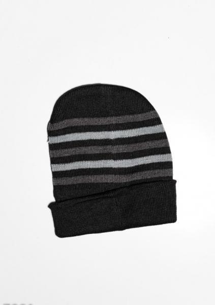 Фото  Мужские шапки ISSA PLUS 7901  Universal черный/сиреневый