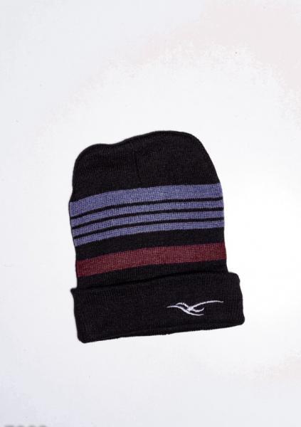 Фото  Мужские шапки ISSA PLUS 7902  Universal черный/бордовый