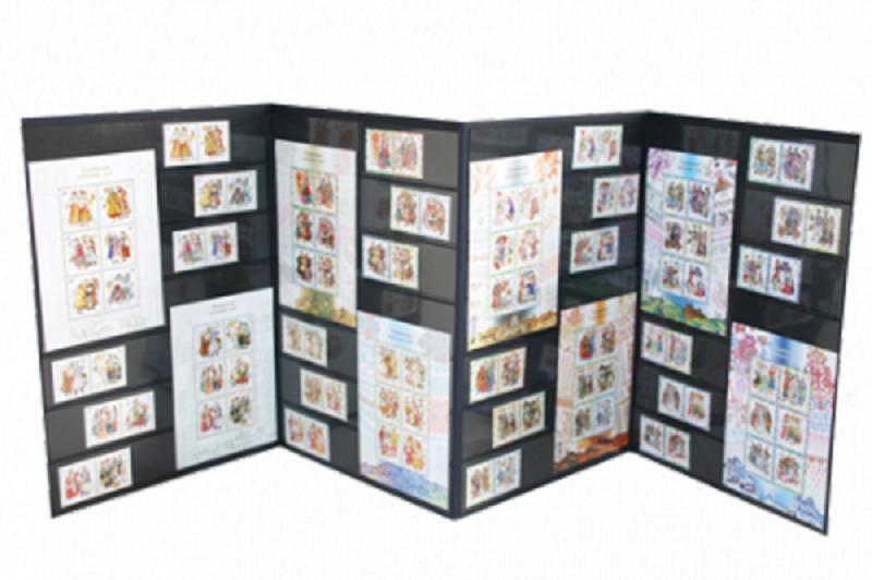Фото Почтовые марки Украины, Сувенирные буклеты с почтовыми марками Украины Восемь серий почтовых марок и блоков Народной одежды в буклете
