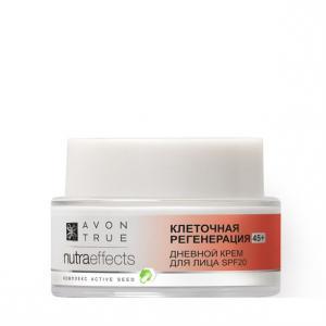 Фото Nutra Effect Вечная красота 45+ Денний крем для обличчя «Клітинна регенерація 45+» SPF 20 (50 мл)