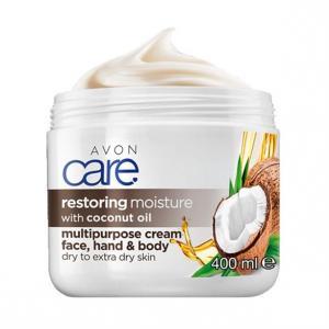 Фото Серия Care Крем для обличчя і тіла «Олія кокоса. Відновлення» (400 мл)