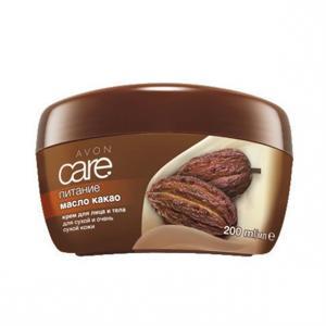 Фото Серия Care Крем для обличчя і тіла з маслом какао «Живлення» (200 мл)