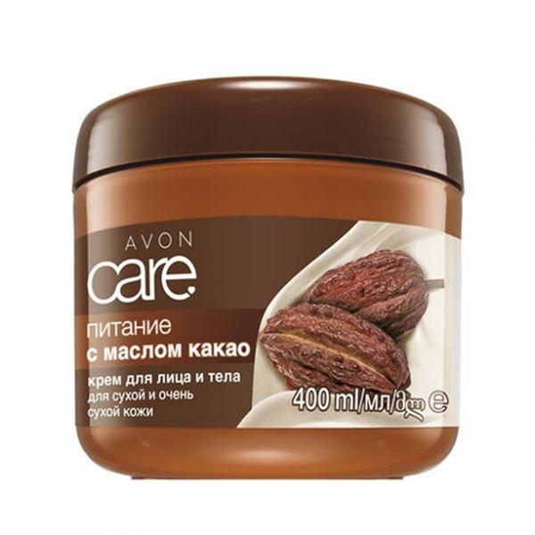 Крем для обличчя і тіла з маслом какао «Живлення» (400 мл)