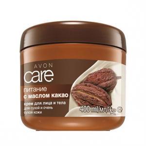 Фото Серия Care Крем для обличчя і тіла з маслом какао «Живлення» (400 мл)