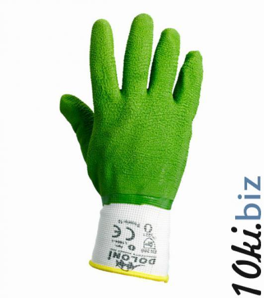 Перчатки  рабочие DOLONI  нейлоновые (вспененный зелёный латекс), цена фото купить в Киеве. Раздел Средства защиты рук