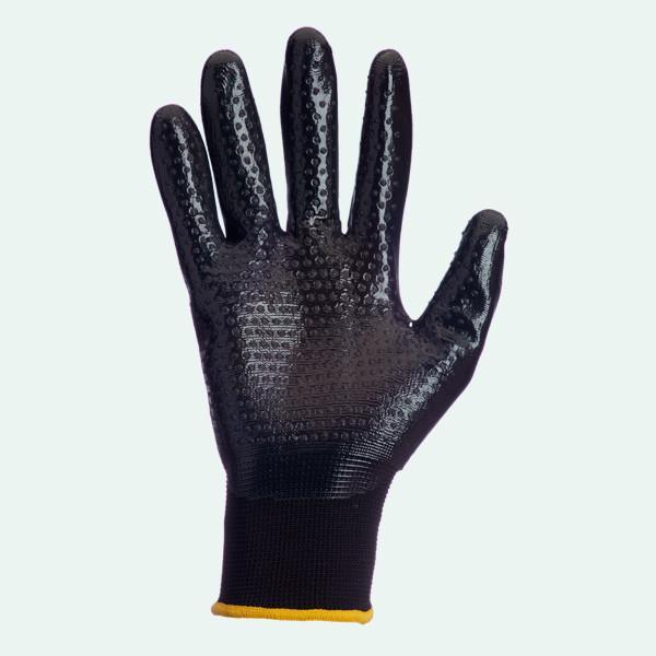 Перчатки рабочие  Doloni  стрейчевые с нитриловым покрытием неполный облив