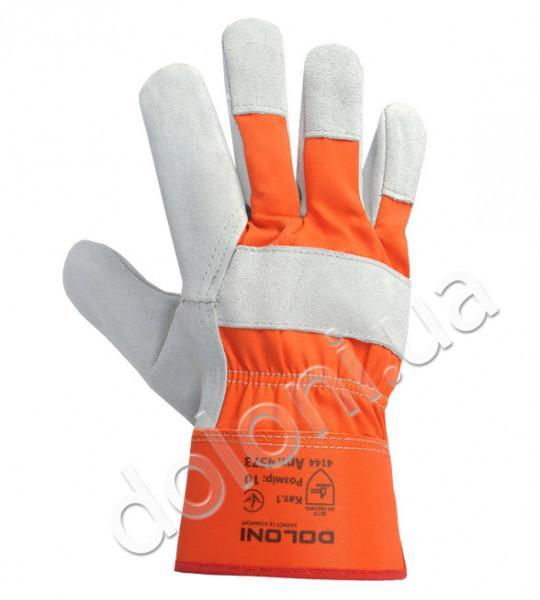 Перчатки рабочие кожаные комбинированные  Doloni