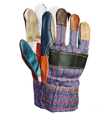 Перчатки рабочие утеплённые кожа и ткань RLKOPAS
