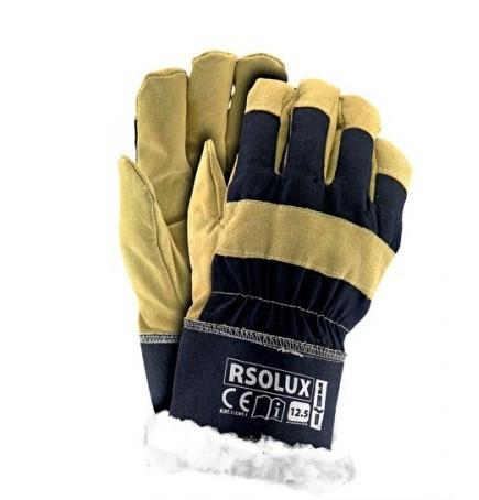 Перчатки рабочие утеплённые хб и спилок RSO-LUX