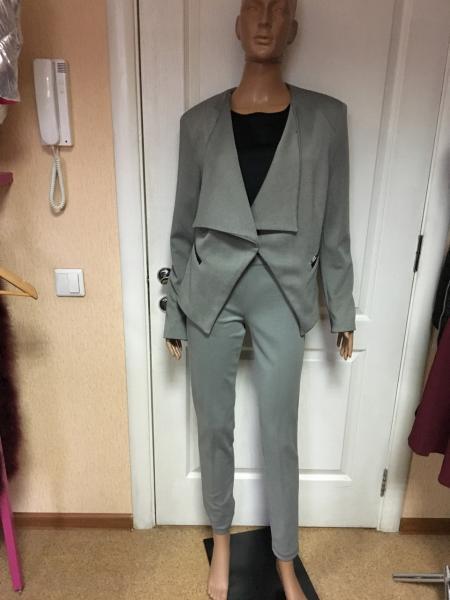 Пиджак серый меланжевый,брендовый Италия Coconuda