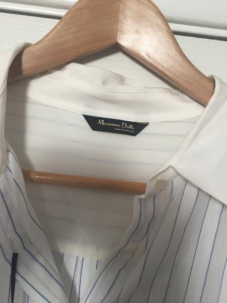 Рубашка женская  длинный рукав   светлая  легкая натуральная  Massimo Dutti  длинный, 42