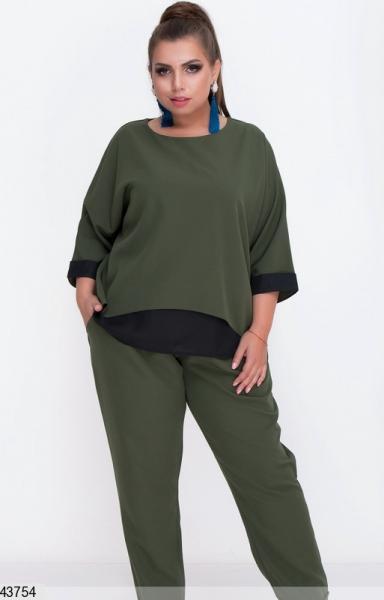 Женский брючный костюм демисезонный размеры: 50-52, 54-56