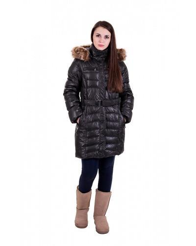 Женское пальто  зимнее баллоневое с капюшоном