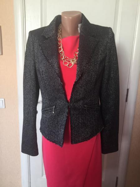 Пиджак женский  молодежный укороченный весна-осень темно-серый на подкладке с длинным рукавомs.Oliver