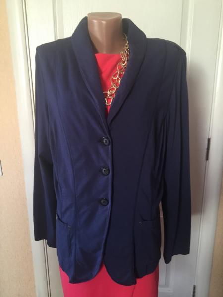 Пиджак женский  больших размеров серый синий    весна-летоS.Oliver 52