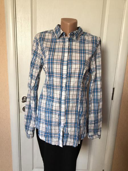 Рубашка женская  весна - лето  длинный рукав в клетку XTSY