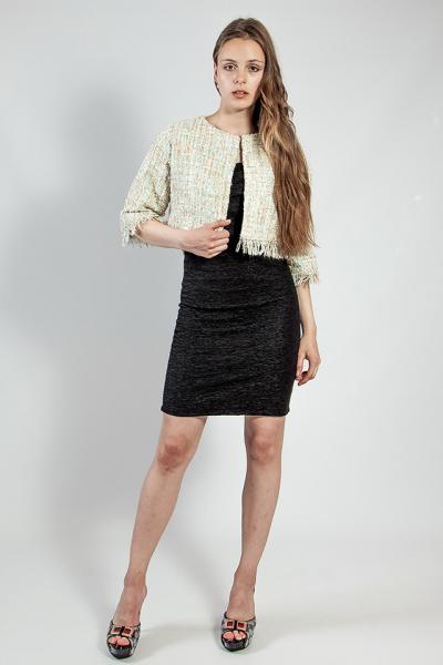 Жакет пиджак женский короткий светлый нарядный 3\4 рукав р  L Rinascimento