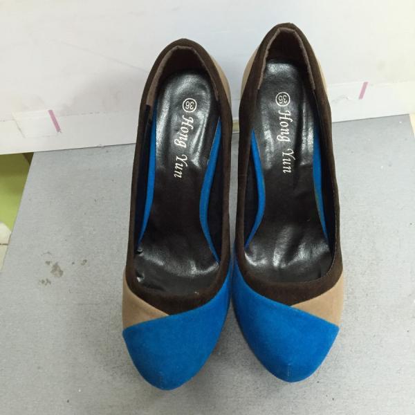 Туфли женские  замшевые цветные на каблуке Mirex с36