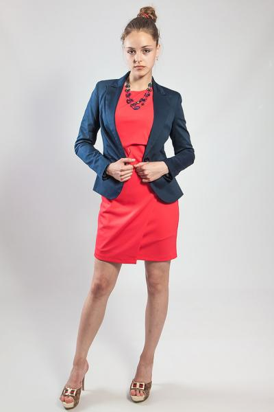 Пиджак - жакет женский  темно - синий  Rinascimento