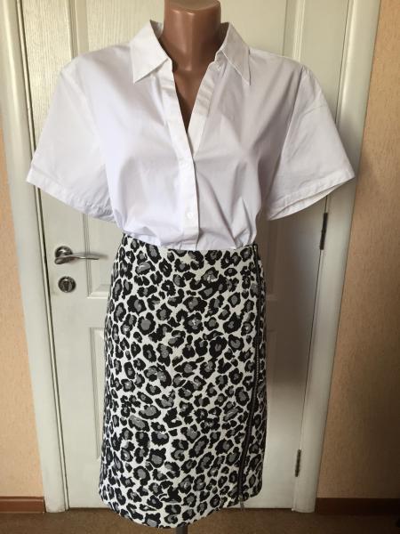 Рубашка женская  белая короткий рукав  S.Oliver  46