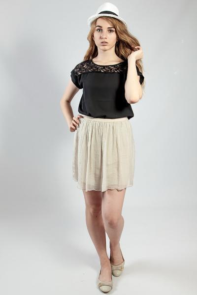 Женская юбка летняя легкая бежевая  XTSY