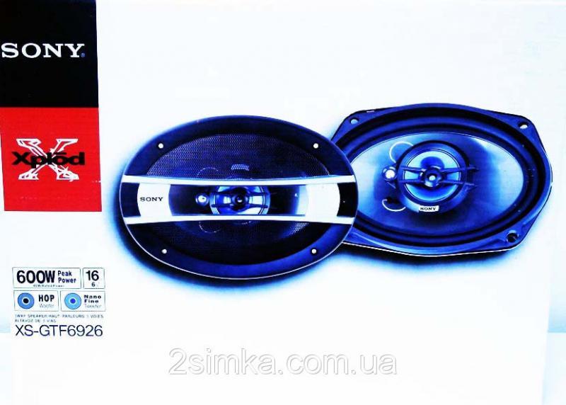 SONY XS-GTF6926 (600Вт) четырехполосные