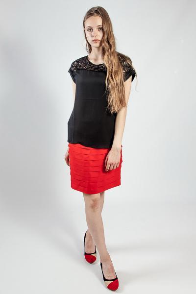 Юбка женская летняя короткая  красная  Rinascimento L